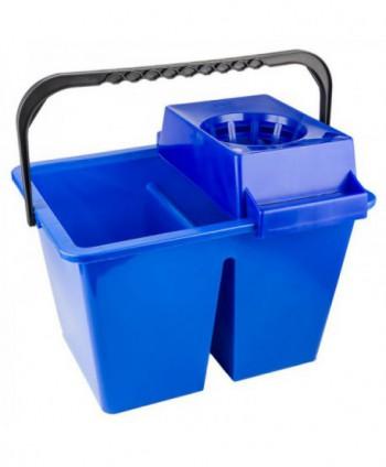 Materiale de curatenie - Galeata de curatenie dubla cu storcator - albastra - arli.ro