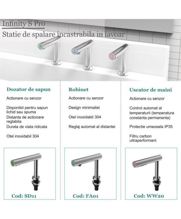 Uscatoare de maini rapide - - Statie de spalare - ArliTech® Infinity S Pro - arli.ro