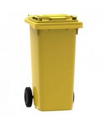 Cosuri gunoi stradale - Pubela de gunoi, GALBENA - 120 litri - arli.ro