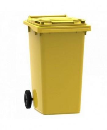 Cosuri gunoi stradale - Pubela de gunoi, GALBENA - 240 litri - arli.ro