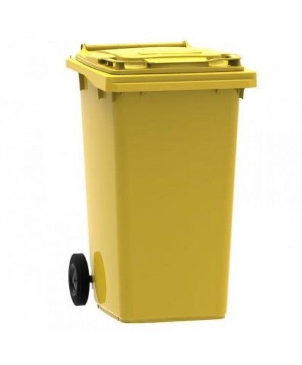 Cosuri gunoi stradale - - Pubela de gunoi, GALBENA - 240 litri - arli.ro