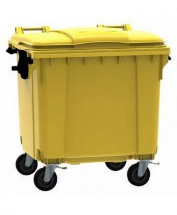 Cosuri gunoi stradale - Container de gunoi, GALBEN - 1100 litri - arli.ro