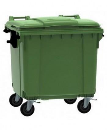 Cosuri gunoi stradale - Container de gunoi, VERDE - 1100 litri - arli.ro