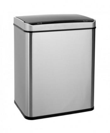 Cosuri gunoi inox - Cos de gunoi rectangular din INOX, cu senzor-50 litri - arli.ro
