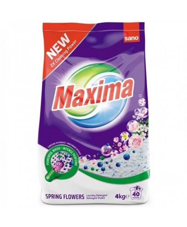 Detergenti si solutii de curatat - - Detergent Sano Maxima Spring Flowers 4 kg - arli.ro