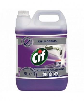 Detergenti si solutii de curatat - Dezinfectant suprafete - Cif Professional 2 in 1 Concentrat 5 L - arli.ro