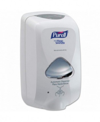 Dozatoare de dezinfectant - Dozator cu senzor pentru gel dezinfectant de maini, alb - Purell TFX 1200 ml - arli.ro