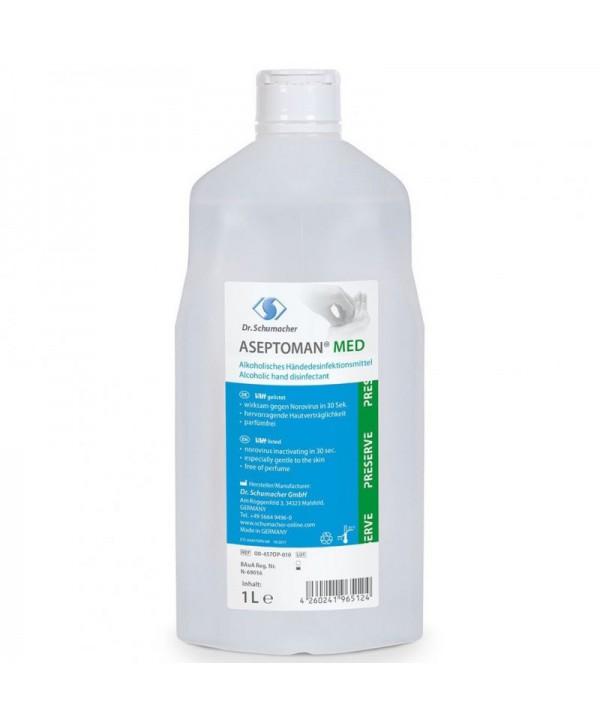 Dezinfectanti pentru maini - - Dezinfectant medical de nivel inalt pentru maini - Aseptoman Med - 1000 ml - arli.ro