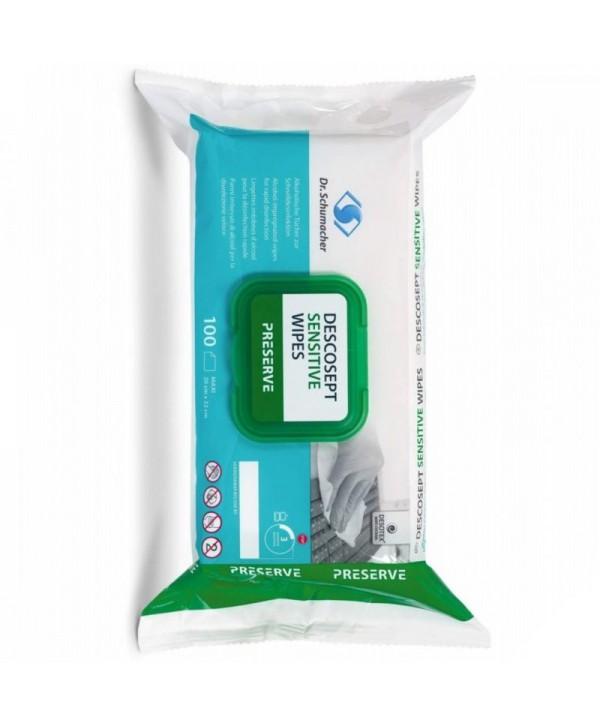 Dezinfectanti pentru suprafete - - Servetele dezinfectante cu efect virucid - Descosept - 100 bucati - arli.ro