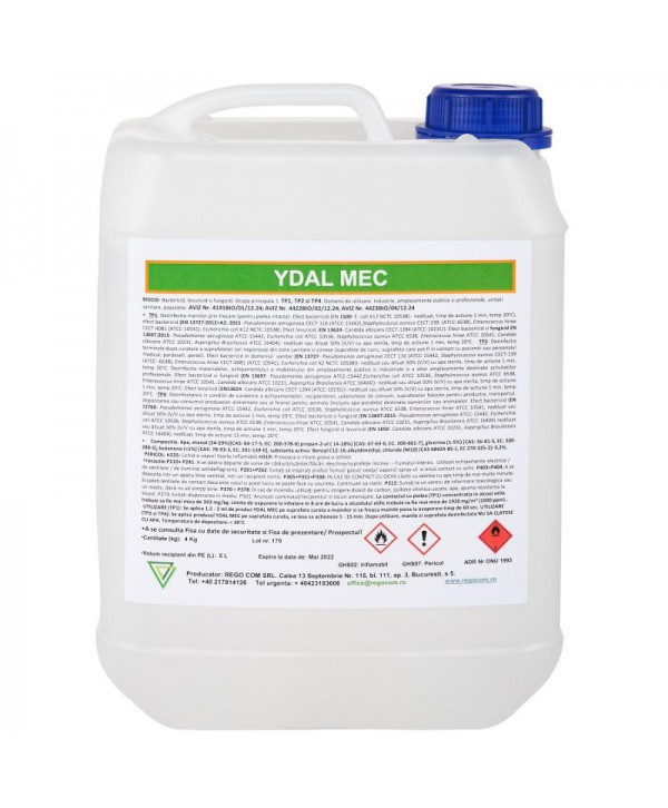 Dezinfectanti pentru maini - - Dezinfectant virucid maini / suprafete - YDAL MEC - 5 litri - arli.ro