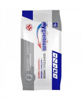 Dezinfectanti pentru suprafete - Servetele dezinfectante cu efect bactericid - Hygienium - 48 bucati - arli.ro
