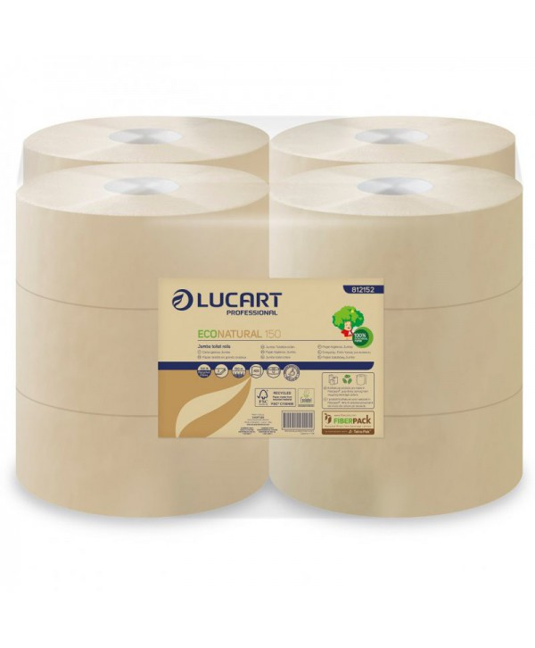 Dispensere hartie igienica - - Hartie igienica Jumbo EcoNatural - pachet 12 role - arli.ro