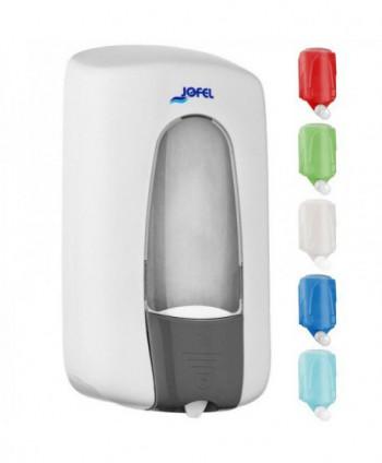 Dozatoare de sapun din ABS - Dozator de sapun, Jofel, alb, sistem MIX - 1000 ml - arli.ro