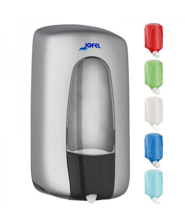 Dozatoare de sapun din ABS - - Dozator de sapun, Jofel, silver, sistem MIX - 1000 ml - arli.ro