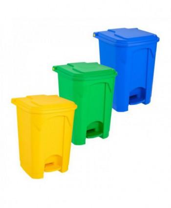 Cosuri gunoi selectiv - Set 3 mini pubele cu pedala pentru colectare selectiva - 50 litri - arli.ro