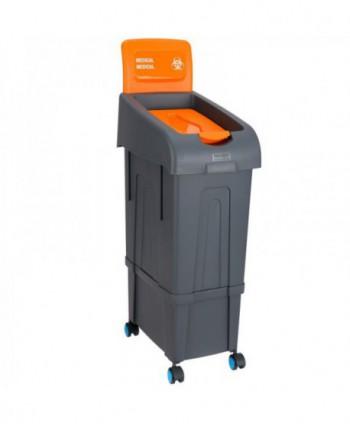 Covoare cu dezinfectant, cosuri igienice, sterilizatoare - Cos anti COVID 19 pentru masti si manusi folosite - 80 litri - arli.ro