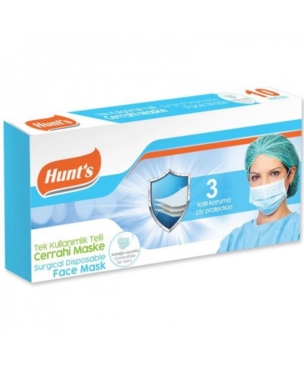 Masti, manusi, viziere - - Masca de protectie chirurgicala, CE, 3 straturi - Cutie cu 10 bucati - arli.ro