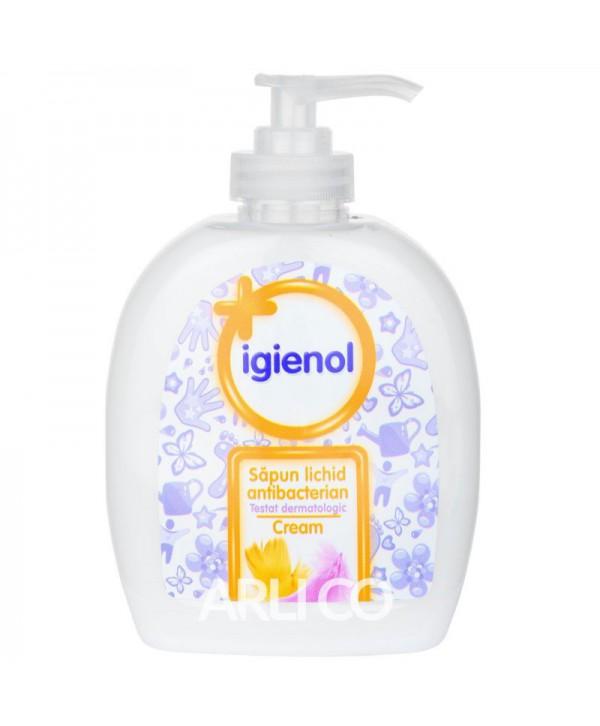 Dezinfectanti pentru maini - - Sapun lichid antibacterian - Igienol Cream - 300 ml - arli.ro