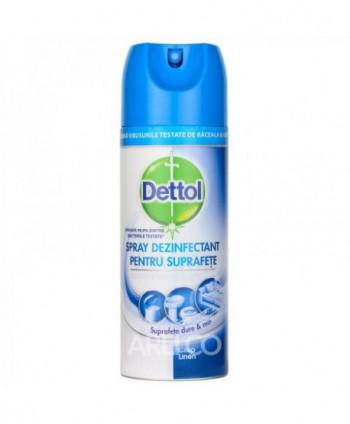 Dezinfectanti pentru suprafete - Spray dezinfectant pentru suprafete Dettol Crisp Linen - 400ml - arli.ro