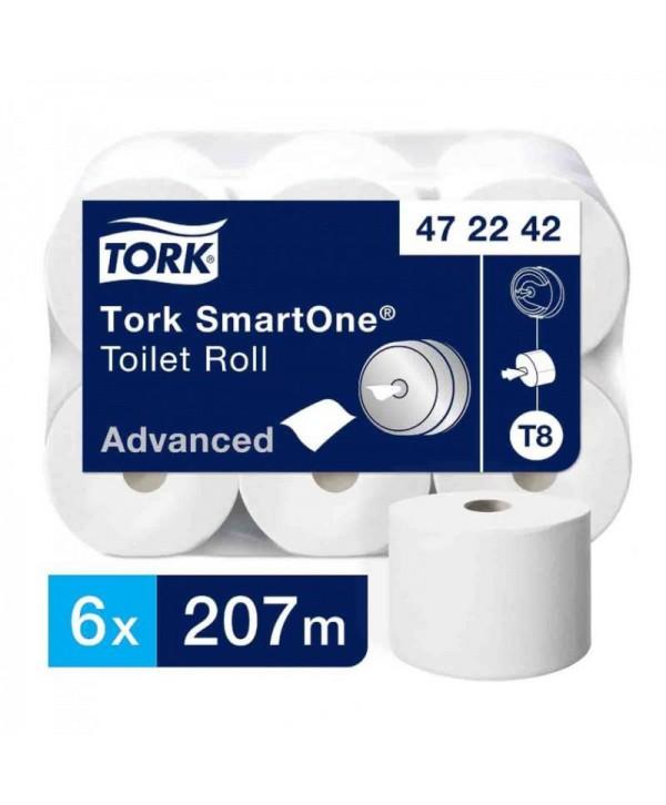 Consumabile din hartie - - Hartie igienica Tork Smart One T8 - pachet 6 role - arli.ro