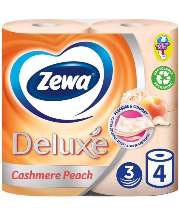 Consumabile din hartie - - Hartie igienica Zewa Deluxe Cashmere Peach - pachet 4 role - arli.ro
