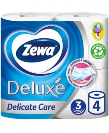 Consumabile din hartie - Hartie igienica Zewa Deluxe Delicate Care - pachet 4 role - arli.ro
