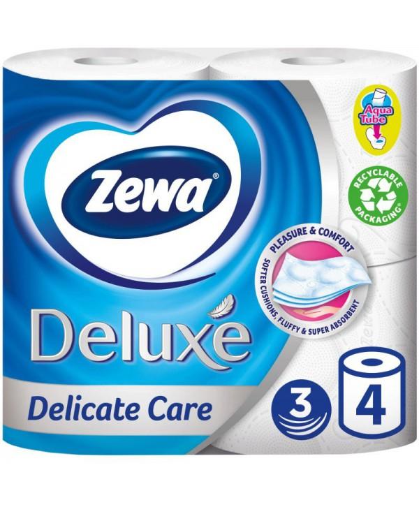 Consumabile din hartie - - Hartie igienica Zewa Deluxe Delicate Care - pachet 4 role - arli.ro