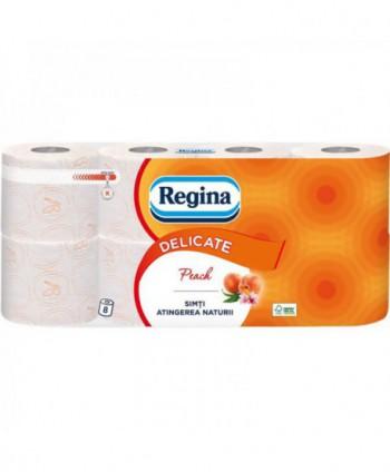 Consumabile din hartie - - Hartie igienica Regina Delicate Peach - pachet 8 role - arli.ro