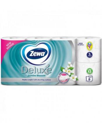 Consumabile din hartie - Hartie igienica Zewa Deluxe Jasmine Blossom - pachet 8 role - arli.ro