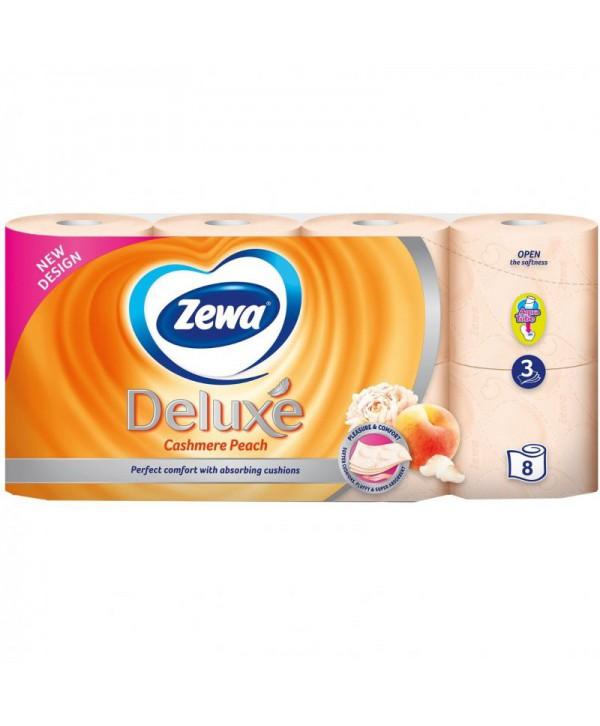 Consumabile din hartie - - Hartie igienica Zewa Deluxe Cashmere Peach - pachet 8 role - arli.ro