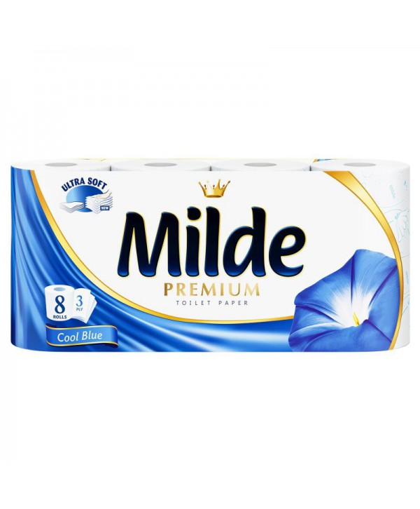 Consumabile din hartie - - Hartie igienica Milde Cool Blue - pachet 8 role - arli.ro
