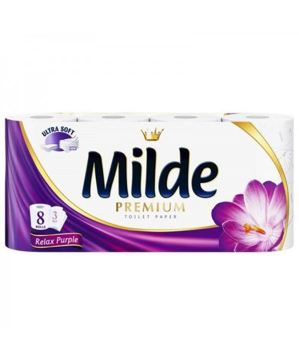 Consumabile din hartie - - Hartie igienica Milde Relax Purple - pachet 8 role - arli.ro