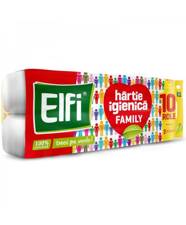Consumabile din hartie - - Hartie igienica Elfi Family - pachet 10 role - arli.ro