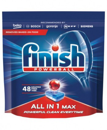 Detergenti si solutii de curatat - Detergent masina spalat vase - Finish All in 1 Max 48 tablete - arli.ro