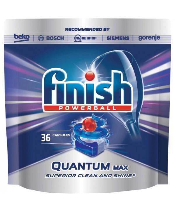 Detergenti si solutii de curatat - - Detergent masina spalat vase - Finish Powerball Quantum 36 tablete - arli.ro