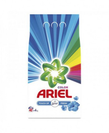 Detergenti si solutii de curatat - Detergent praf pentru rufe Ariel Color Touch of Lenor - 4 Kg - arli.ro