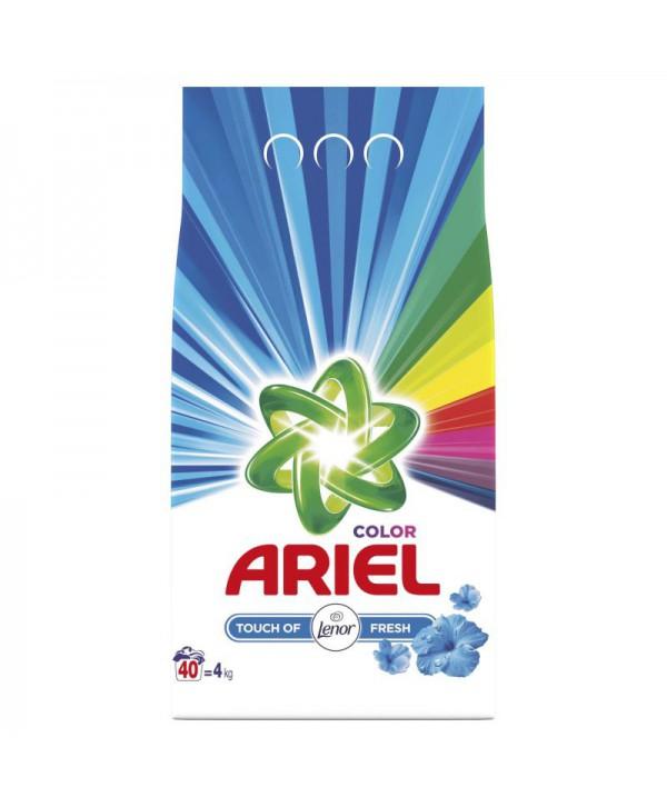 Detergenti si solutii de curatat - - Detergent praf pentru rufe Ariel Color Touch of Lenor - 4 Kg - arli.ro