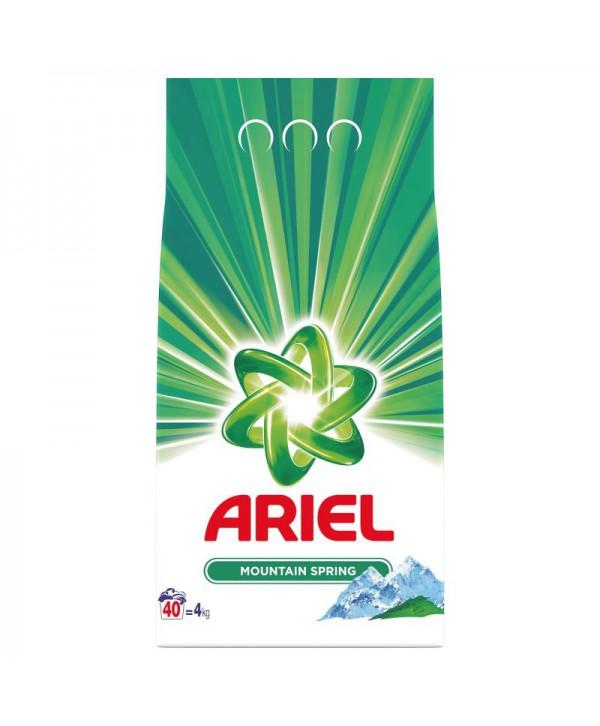 Detergenti si solutii de curatat - - Detergent praf pentru rufe Ariel Mountain Spring - 4 Kg - arli.ro