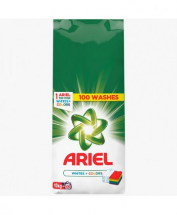 Detergenti si solutii de curatat - Detergent praf pentru rufe Ariel Whites + Colors  - 10 Kg - arli.ro