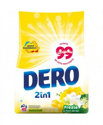 Detergenti si solutii de curatat - Detergent praf pentru rufe Dero 2 in 1 Frezie si flori de tei - 4 Kg - arli.ro
