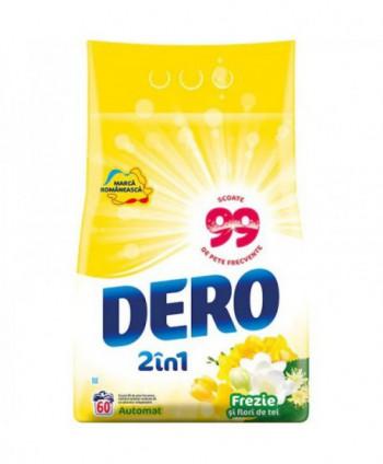 Detergenti si solutii de curatat - Detergent praf pentru rufe Dero 2 in 1 Frezie si flori de tei - 6 Kg - arli.ro