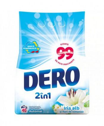 Detergenti si solutii de curatat - Detergent praf pentru rufe Dero 2 in 1 Iris alb si flori de romanita - 4 Kg - arli.ro