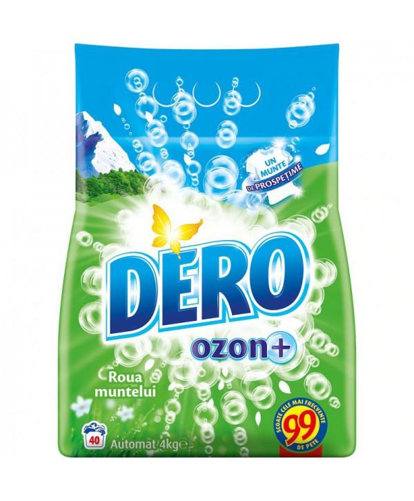 Detergenti si solutii de curatat - - Detergent praf pentru rufe Dero 2 in 1 Ozon+ Roua muntelui - 4 Kg - arli.ro