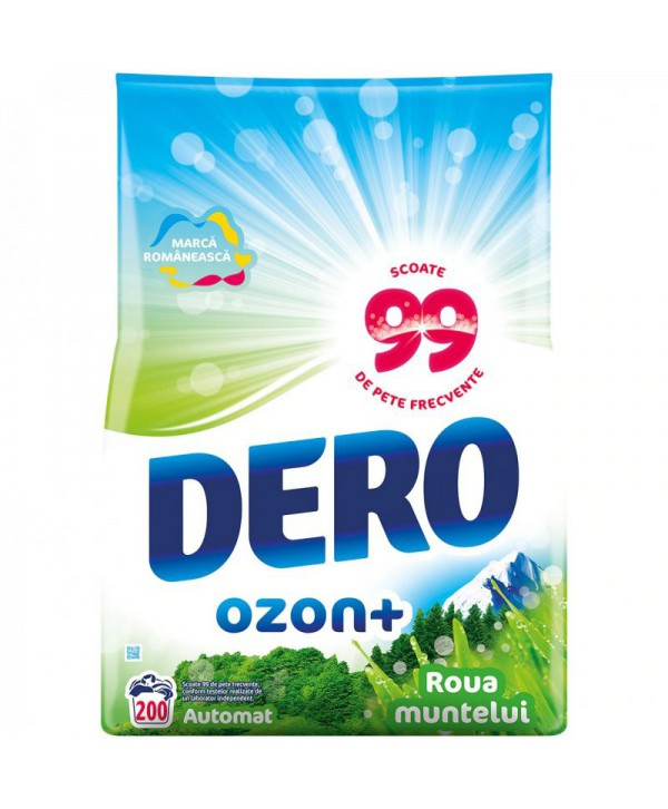 Detergenti si solutii de curatat - - Detergent praf pentru rufe Dero 2 in 1 Ozon+ Roua muntelui - 20 Kg - arli.ro