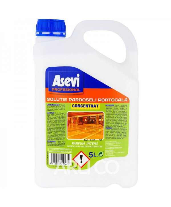 Detergenti si solutii de curatat - - Detergent pardoseli - Asevi Profesional Portocala 5L - arli.ro