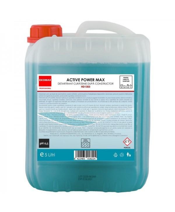 Detergenti si solutii de curatat - - Detartrant curatenie dupa constructor Active Power Max - Ekomax 5 litri - arli.ro