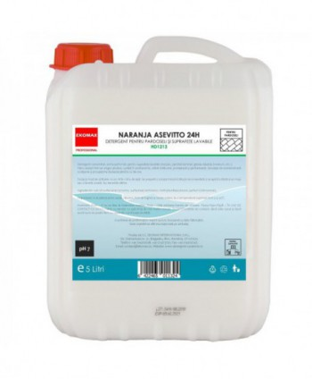 Detergenti si solutii de curatat - Detergent pardoseli Naranja Asevitto 24H - Ekomax 5 litri - arli.ro