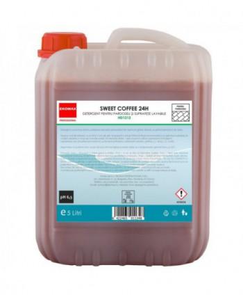 Detergenti si solutii de curatat - Detergent pardoseli Sweet Coffee 24H - Ekomax 5 litri - arli.ro