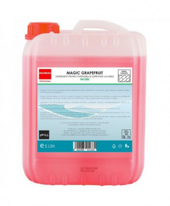 Detergenti si solutii de curatat - Detergent pardoseli Magic Grapefruit - Ekomax 5 litri - arli.ro