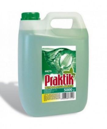Detergenti si solutii de curatat - Detergent vase Clovin Praktik - Menta 5L - arli.ro